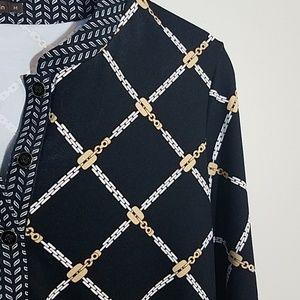 J. Mclaughlin Chain Link Print Tunic